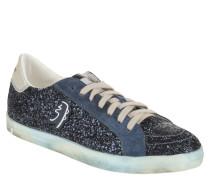 Sneaker, Leder, Logo-Emblem, Used-Look