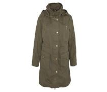 Mantel, Pattentaschen, Taillenzug, abnehmbare Kapuze