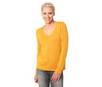 Pullover, unifarben, V-Ausschnitt
