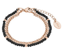 Armband mit Glassteinen 2018354 IP Rose Edelstahl
