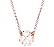 Halskette Kleeblatt Glücksbringer Trend 925 Silber