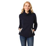 Sweatshirt, Wickelkragen, Eingrifftaschen, Streifen-Details