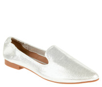 Loafer, Glitzer, spitz zulaufend, Metallic-Look