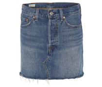 Jeansrock, Used-Look, Ziernaht, 5-Pocket-Stil