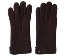 Handschuhe, mit Leder-Blenden