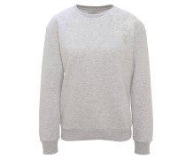Sweatshirt, halbtransparente Blumenstickerei