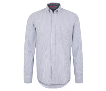 Hemd, Casual Fit, Baumwolle, gestreift, Button-Down-Kragen