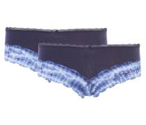 Panty, 2er-Pack, Spitzen-Bordüre