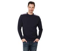 Sweatshirt, zweifarbig, Label-Patch, Label-Flag