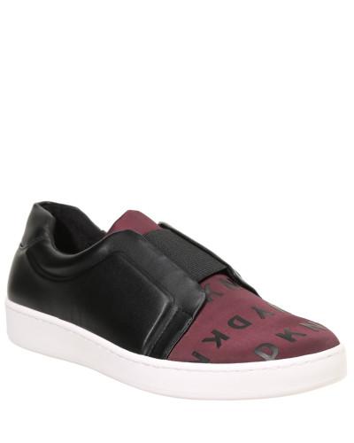 "Sneaker ""Bobbi"", Leder-Optik, Logo-Druck, dreifarbig"