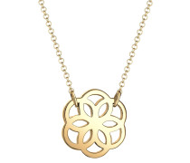 Halskette Blume Floral 925 Sterling Silber