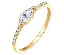 Ring Verlobung Marquise Swarovski® Kristalle 925 Silber