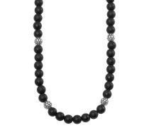 Herren-Halskette mit Onyx-Steinen