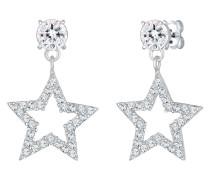 Ohrringe Sterne Sparkling Swarovski® Kristalle 925