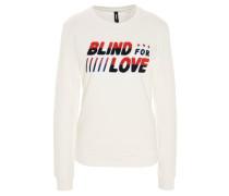 Sweatshirt, Baumwolle, Rundhalsausschnitt, Frottee-Print