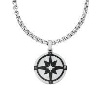 Herren-Halskette mit Kompass-Anhänger