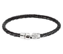 Armband, Flecht-Optik, -Verschluss, Onyx-Elemente