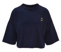 T-Shirt, cropped, Halbarm Logo-Print, rückseitige Logo-Applikation