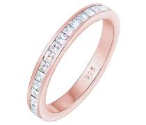 Ring Bandring Geo Shape Swarovski® Kristalle 925 Silber