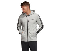 "Sweatjacke ""Must Haves 3 Stripes Fullzip Hoodie"", Kapuze"