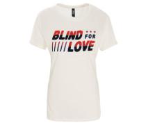 T-Shirt, Rundhalsausschnitt, Frottee-Print