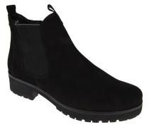 Chelsea Boots, Veloursleder, elastischer Einsatz, Profilsohle