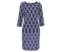 Kleid, 3/4 Arm, geometrisches Muster