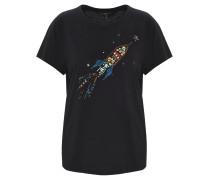 T-Shirt, Rundhalsausschnitt, Schmucksteine