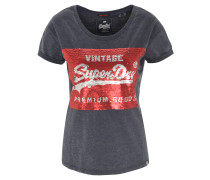 T-Shirt, Wendepailletten, Rundhalsausschnitt