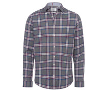 Freizeithemd, Modern Fit, Karo-Muster, Under-Button-Down-Kragen