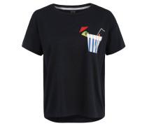 T-Shirt, Oversize, Brusttasche, Print