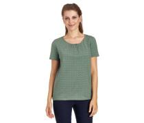 T-Shirt, geometrisches Design, Schlüssellochausschnitt