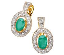 Ohrstecker Smaragd Sterling Silber 925 vergoldet