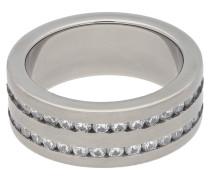 Titan Ring, poliert, Zirkonia-Steine