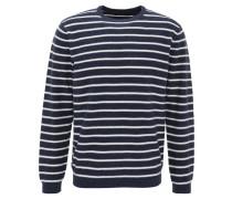 Pullover, gestreift, Rundhalsausschnitt, Baumwolle