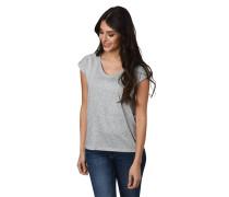 T-Shirt, Glitzer-Punkte, überschnittene Schulter, verlängerter Rücken