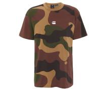 T-Shirt, Baumwolle, Camouflage, Marken-Print