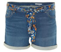Shorts, Bindegürtel, Waschung