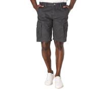 Cargo-Shorts, feines Karo, reine Baumwolle, Blasebalgtaschen