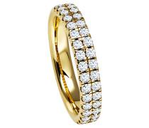 Ring 585 Gelb mit 34 Diamanten, zus. ca. 0,70 ct.