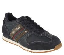 Sneaker, Veloursleder-Details, Schnürung, Kontrast-Naht