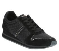 Sneaker, Stoff, Leder, Glitzer