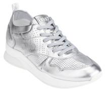 """Sneaker """"KARLIE 14"""", Leder, Lochmuster, Metallic-Look"""