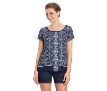 T-Shirt, Ornament-Muster, Rundhalsausschnitt