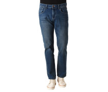 """Jeans """"Woodstock"""", Regular Fit, Waschung, Patches"""