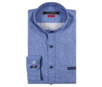 Businesshemd, Baumwolle, Slim Fit, gemustert, Brusttasche