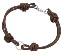 Armband Charmträger Leder 925 Sterling Silber