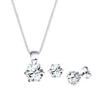 Schmuckset Basic Swarovski® Kristalle Silber