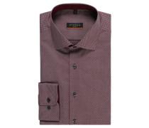 Businesshemd, Slim Fit, gemustert, Kent-Kragen