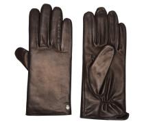 Handschuhe, echtes Leder, weich, Emblem